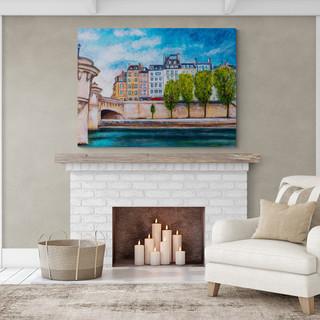 Vers le Pont-Neuf, Paris - CS3021 - Acrylique 40 x 30