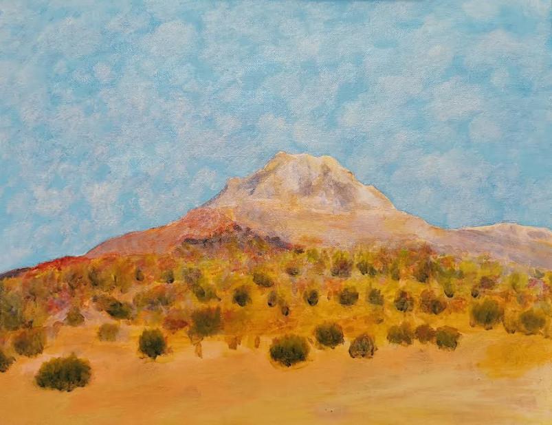 Montagne au Sur Lipez - Acrylique sur toile 40 x 30