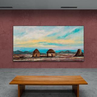 Construcciones tradicionales Uru-Chipaya - CS10221 - Huile, 60 x 30