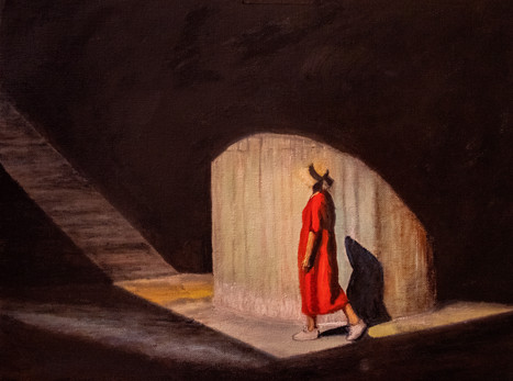 Faisceau de lumière et d'ombre sur robe rouge 2.jpg