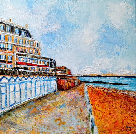 Beach Hotel Winter - CS3721 - Acrylique 30 x 30