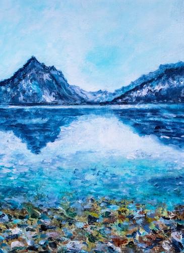 Lac de Thoune I - Petit hommage à Ferdinand H..... - CS7621 - Acrylique 30 x 40