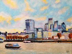 London Cityscape I - CS2921 - Acrylique 40 x 30