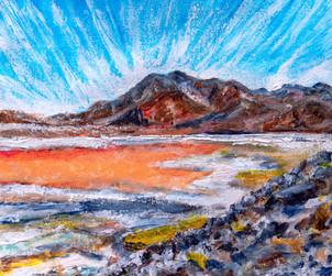Laguna Colorada II - CS7921 - Acrylique 30 x 24