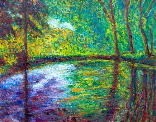 D'après l'étang à Montgeron de Claude Monet - Ebauche 8b.jpg