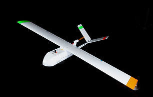 White an orange UAV
