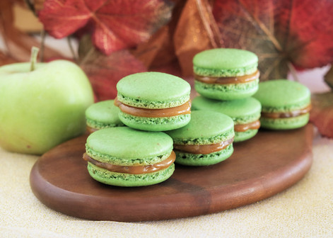 Caramel Apple Macarons