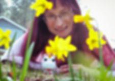 Brandy in her garden