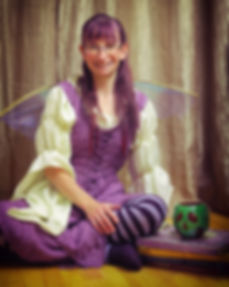 Brandy as a faerie on Halloween