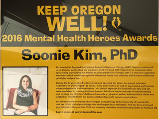 2016 Mental Health Hero Award
