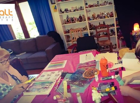 Workshop Art Journals and Adolescents Art Therapy October 27th, 2018
