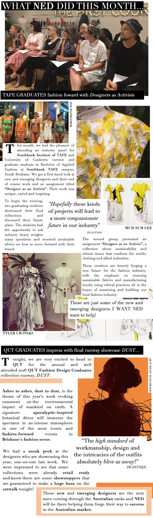 NED (New Emerging Designers Platform) on the lookout for fashion forward graduate students