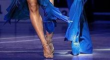 Pieds danseurs, shoes bleues
