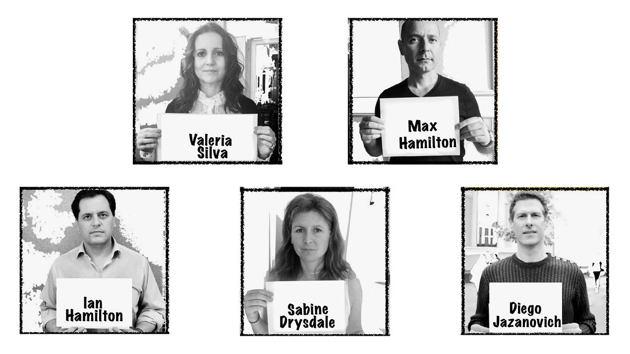 Directorio Fundación El Paciente Inglés: Valeria Silva, Max Hamilton, Diego Jazanovich, Sabine Drysdale, Ian Hamilton