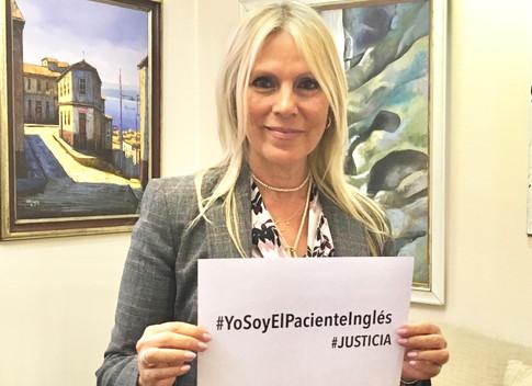 Senadora Lily Pérez San Martín apoyando a ONG El Paciente Inglés Chile