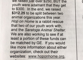 Local Youth Help Hop On Home!
