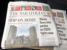 The Saratogain Newspaper Front Page Article About Hop On Home Rabbit Sanctuary, Inc.