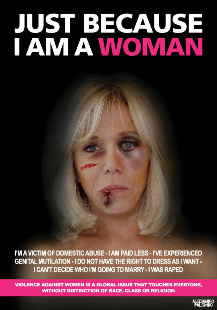 """""""Just because I am a woman"""" poster"""