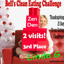 Linda got 2 Zen Den visits!