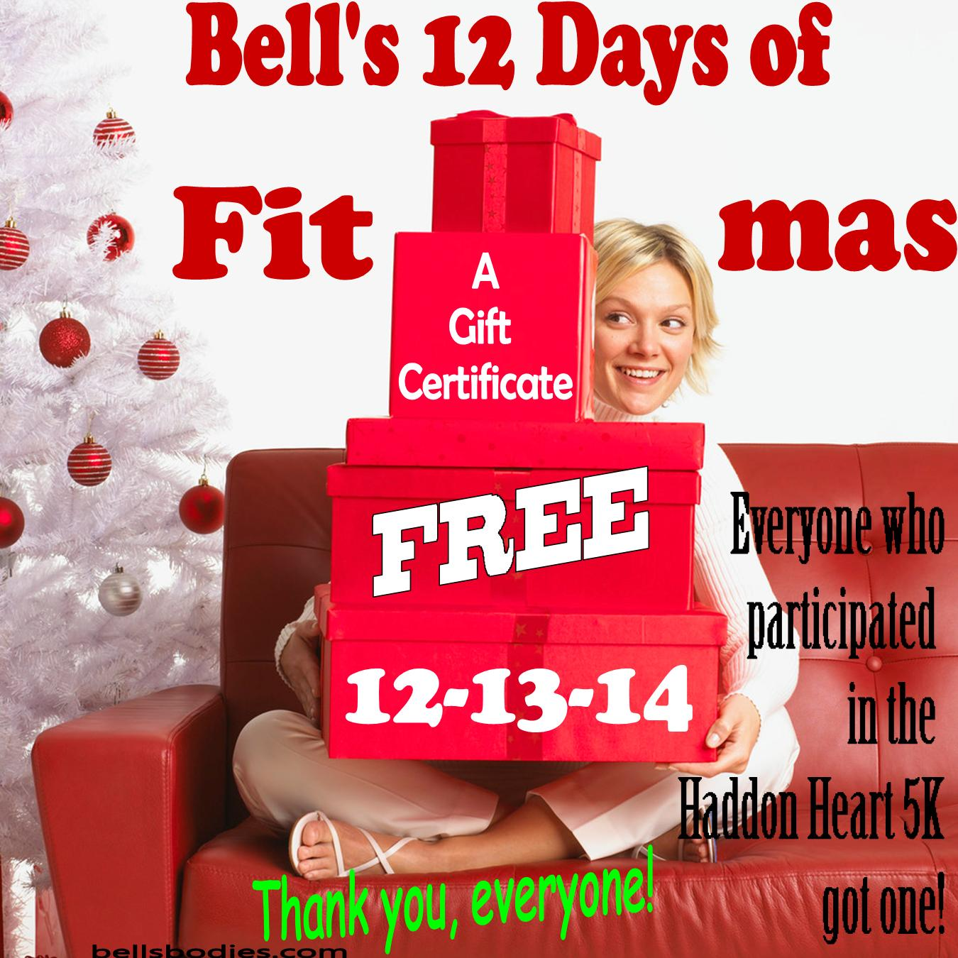 On the 1st day of fit-mas