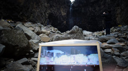 Jain falls media art project