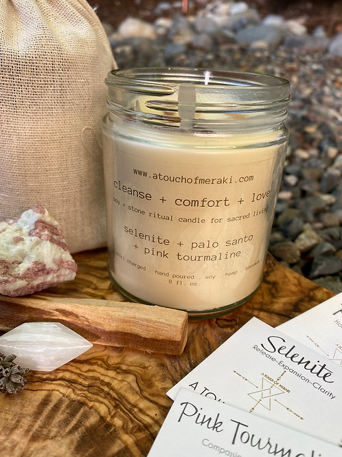 Ritual Candle - Cleanse + Comfort + Love