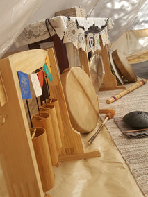 Vibrational Sound Therapy (vocal toning, signing bowls, drumming, tuning forks, rain stick, etc)