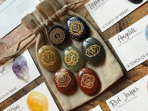 7 Piece Sanskrit Chakra Set