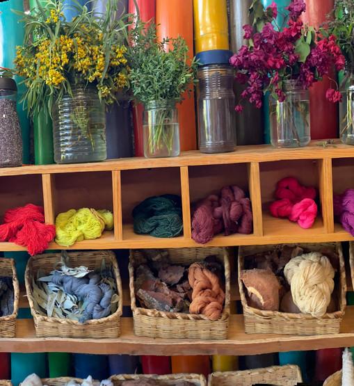 women weavers plant dye
