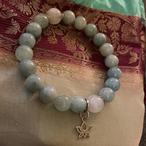 Moonstone + Aquamarine Wrist