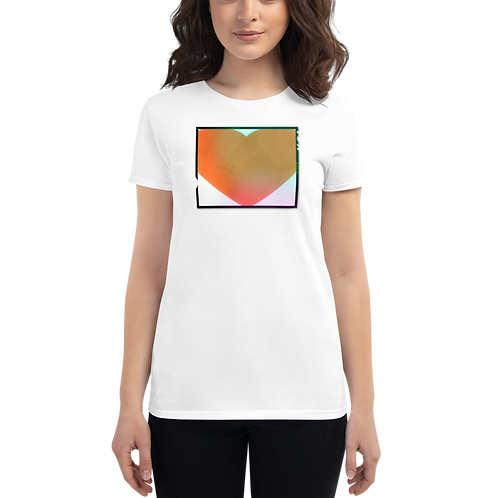 4x5 Film Heart Women's short sleeve t-shirt