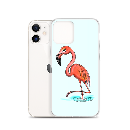 Hiker the Flamingo iPhone Case