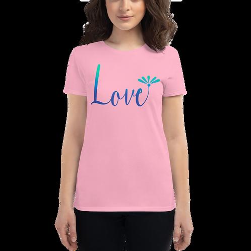 Love (Blue) Women's short sleeve t-shirt