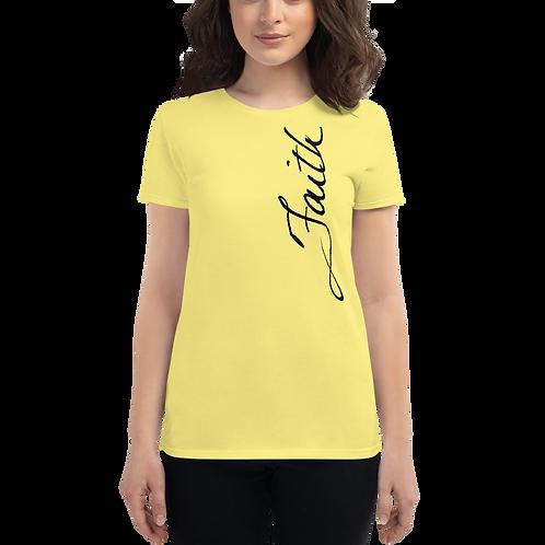 """Handwritten """"Faith"""" Women's short sleeve t-shirt"""