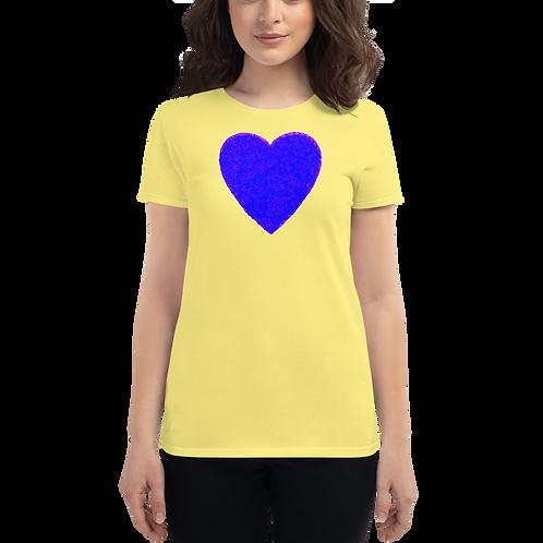 Blue/pink Women's short sleeve t-shirt