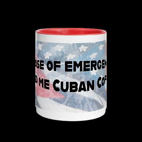 Feed me cuban coffee Mug with Color Inside