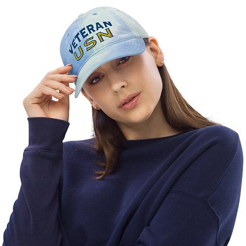 Veteran USN Tie dye hat