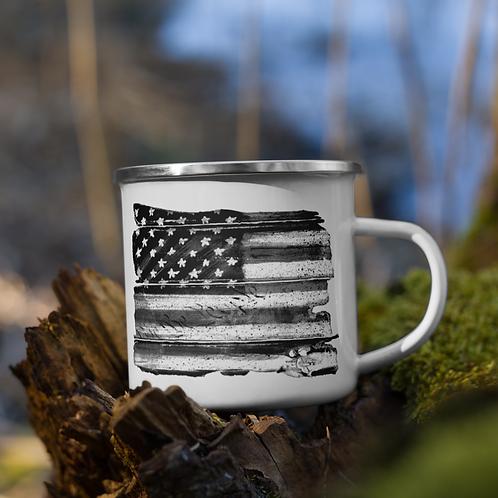 We the People Flag Enamel Mug
