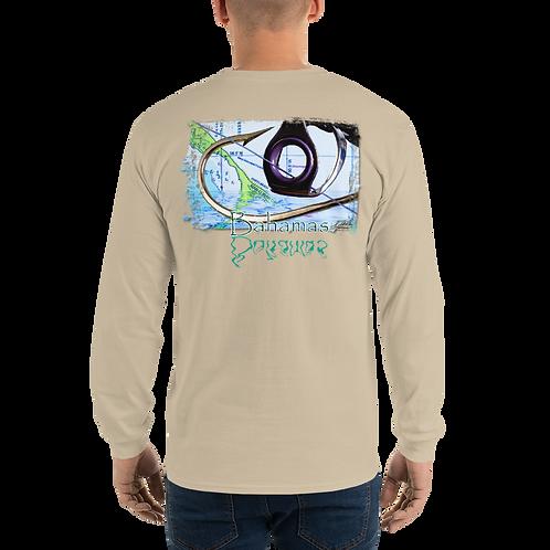 Bahamas Hook & Eye (Reel Gear logo front chest) Men's Long Sleeve Shirt