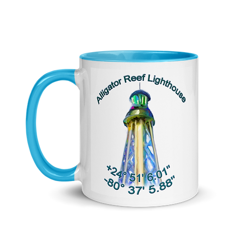 Alligator Reef Lighthouse Mug with Color Inside