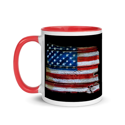 WE THE PEOPLE FLAG (COLOR) Mug with Color Inside
