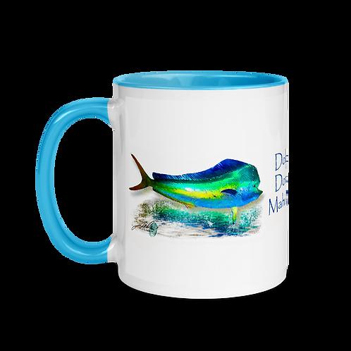 Mahi (Dolphin) Mug with Color Inside