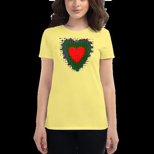 red splatter heart Women's short sleeve t-shirt