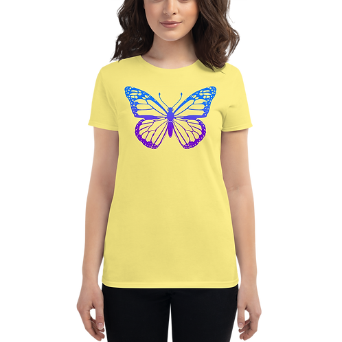 Stained glass butterfly Women's short sleeve t-shirt
