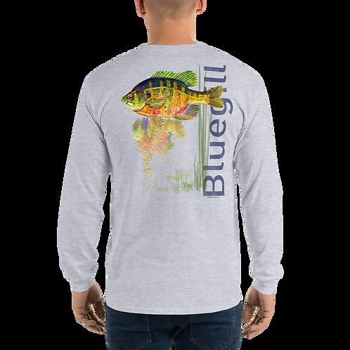 Bluegill (Reel Gear logo front chest) Men's Long Sleeve Shirt