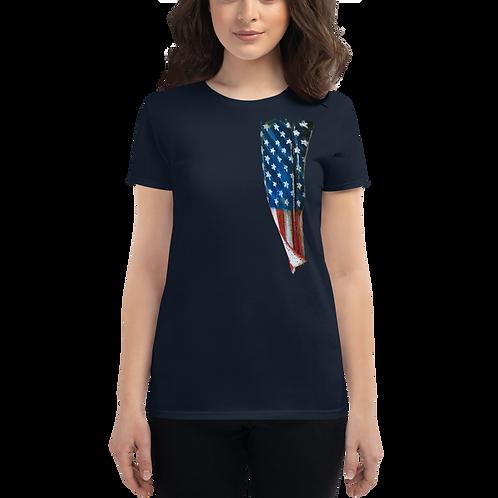 Vertical Flag Women's short sleeve t-shirt