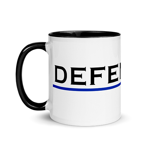 Defend the Police Mug with Color Inside