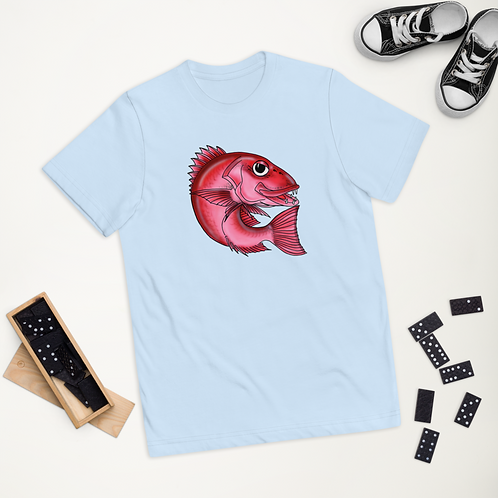 """""""FLAG THE RED SNAPPER"""" Youth jersey t-shirt"""