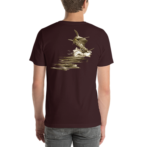 Sepia Jumping Sail Short-Sleeve Unisex T-Shirt