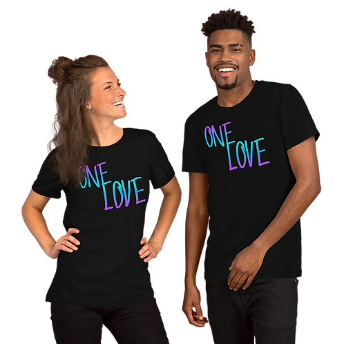 ONE LOVE (gradient) Short-Sleeve Unisex T-Shirt